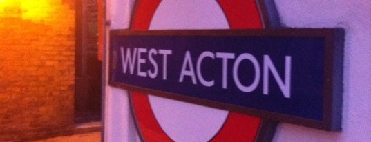 West Acton London Underground Station is one of Tube Challenge.