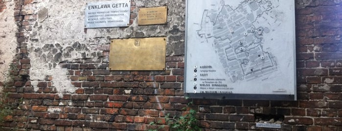 Jewish Ghetto Wall in Warsaw is one of StorefrontSticker #4sqCities: Warsaw.