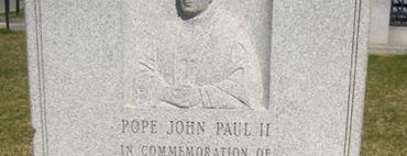 Papal Mass Plaque is one of IWalked Boston's Public Art (Self-guided Tour).