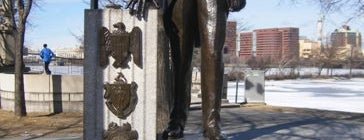 Maurice J. Tobin Statue is one of IWalked Boston's Public Art (Self-guided Tour).