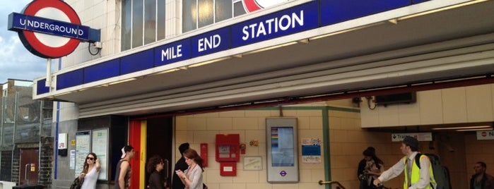 Mile End London Underground Station is one of Tube Challenge.