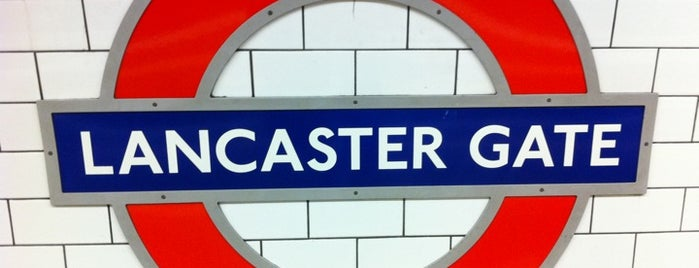Lancaster Gate London Underground Station is one of Zone 1 Tube Challenge.