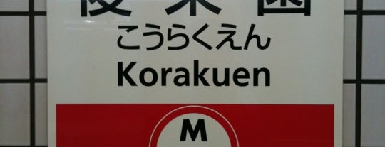 Marunouchi Line Korakuen Station (M22) is one of 読売巨人軍.