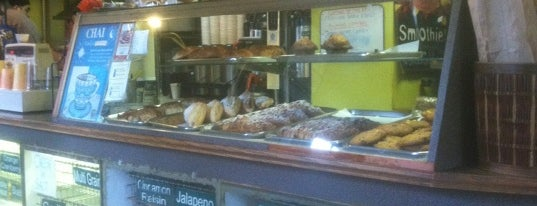Bagels & Baguettes is one of the ususal.
