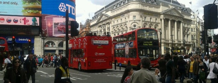 Piccadilly Circus is one of London, August 2012.