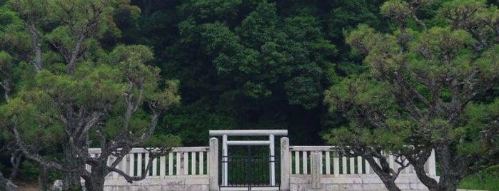 懿徳天皇 畝傍山南纖沙溪上陵 is one of 天皇陵.