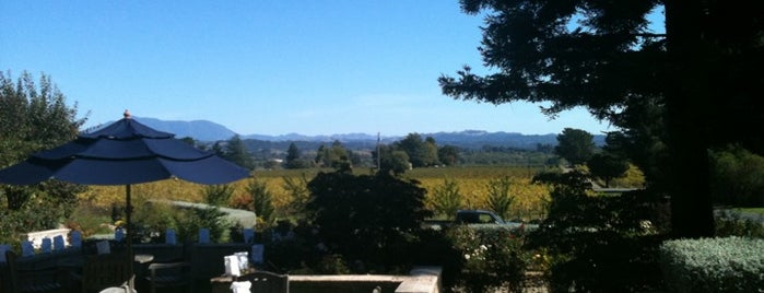 VML Winery is one of Gorgeous, Burgeoning Wine Road Gardens.