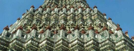 Wat Arun Rajwararam is one of Visit: FindYourWayInBangkok.