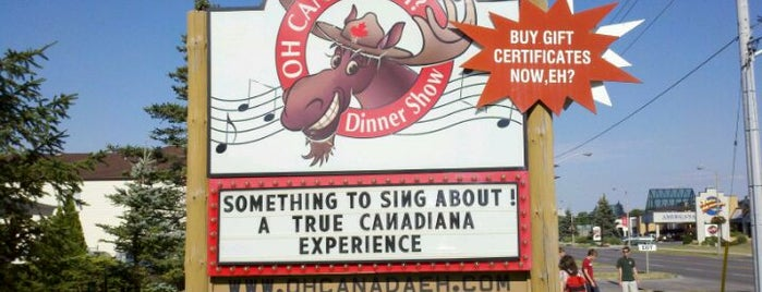 Oh Canada Eh! Dinner show is one of Canada Favorites.