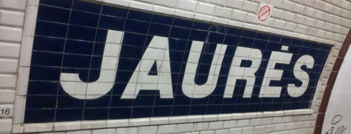 Métro Jaurès [2,5,7bis] is one of Métro de Paris.