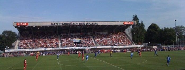 GAZi-Stadion auf der Waldau is one of Stadiums.