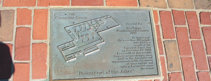Cocoanut Grove Nightclub Tragedy Site is one of Hub History.
