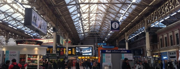London Victoria Railway Station (VIC) is one of London City Badge - London Calling.