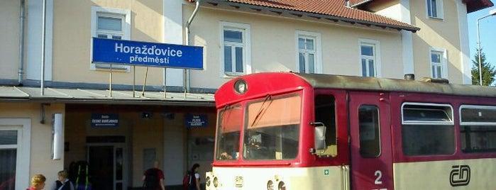 Železniční stanice Horažďovice předměstí is one of Železniční stanice ČR: H (3/14).