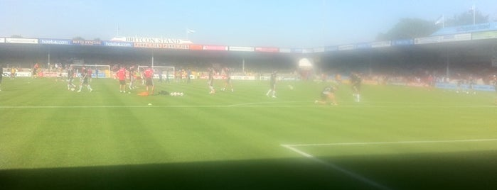 Glanford Park is one of Football grounds visited.