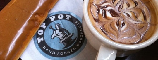 Top Pot Doughnuts is one of Where to eat near the Seattle Monorail platforms!.