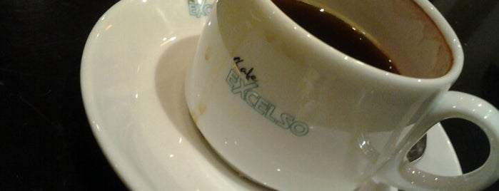 Excelso Cafe is one of places.