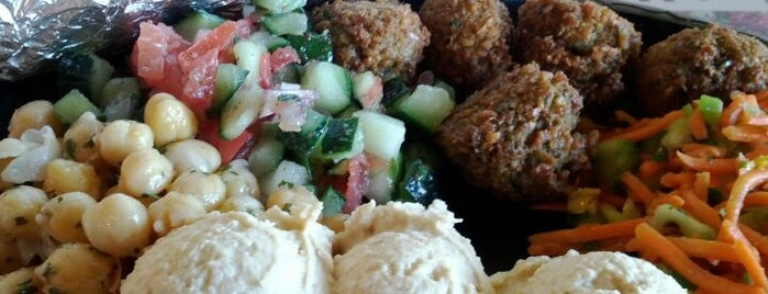 Tahina's Mediterranean Grill is one of Food Spots to Try.
