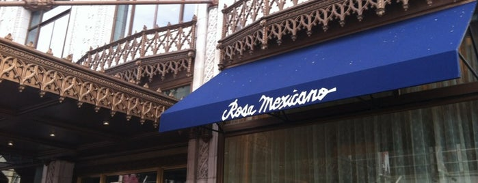 Rosa Mexicano is one of the ususal.