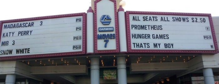 Carmike Movies 7 is one of Love to go.