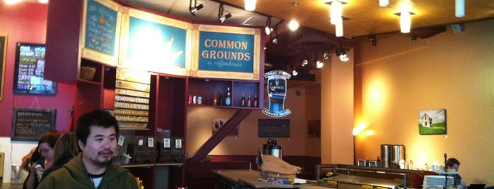 Common Grounds is one of coffee places.