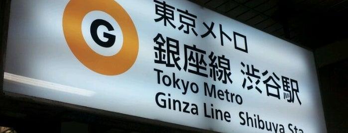 銀座線 渋谷駅 (G01) is one of 東京メトロ 銀座線 全駅.