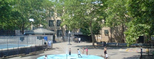 Jesse Owens Playground is one of NYC Parks' Free Outdoor Swimming Pools.
