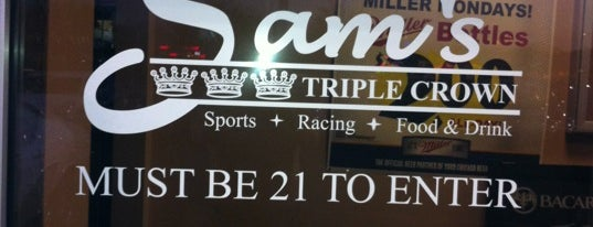 Sam's Triple Crown is one of Official Blackhawks Bars.