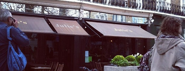 Julie's Restaurant and Champagne Bar is one of London.