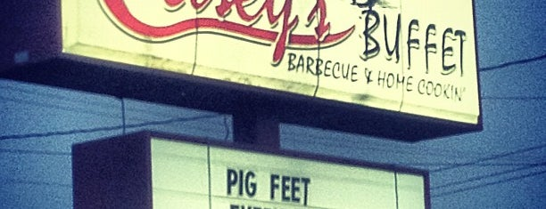 Casey's Barbecue & Home Cookin' Buffet is one of Gary's List.