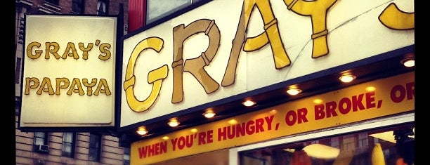 Gray's Papaya is one of NYC.