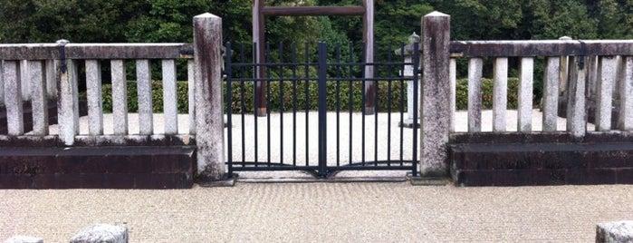 欽明天皇 檜隈坂合陵 (平田梅山古墳) is one of 天皇陵.