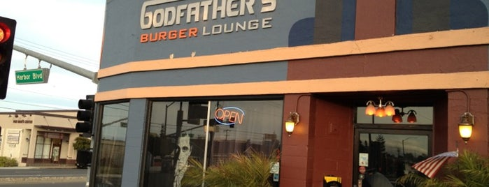 Godfather's Burger Lounge is one of Bay Area Burgers.