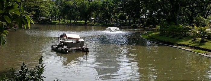 สวนลุมพินี (Lumphini Park) is one of Bangkok (กรุงเทพมหานคร).