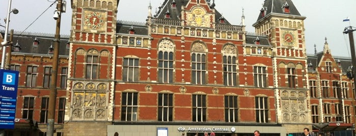 Amsterdam Centraal Railway Station is one of stations.