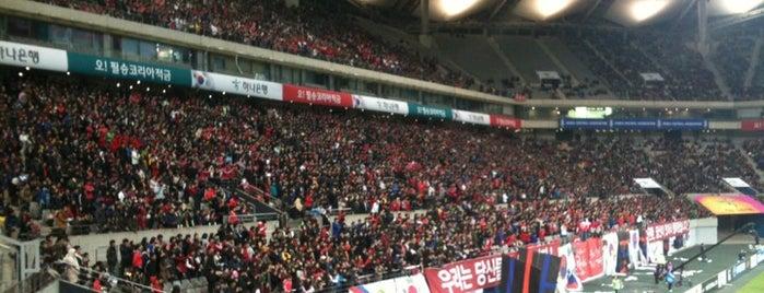 서울월드컵경기장 (Seoul Worldcup Stadium) is one of Seoul City Badge - Lucky Seoul.