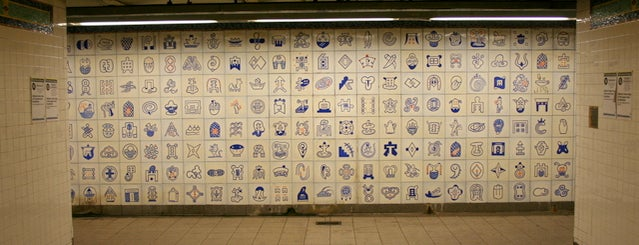 MTA Subway - Canal St (J/N/Q/R/Z/6) is one of Subway Art in NYC.