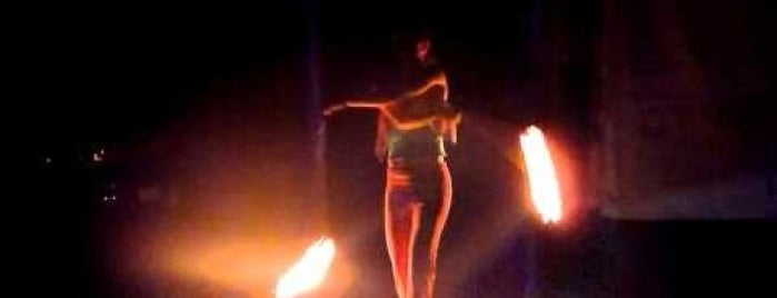 Fire spinning is one of Dance.