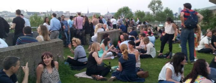 Southbank Centre Roof Garden, Café & Bar is one of London's best pubs & bars.
