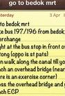Bedok MRT Station...