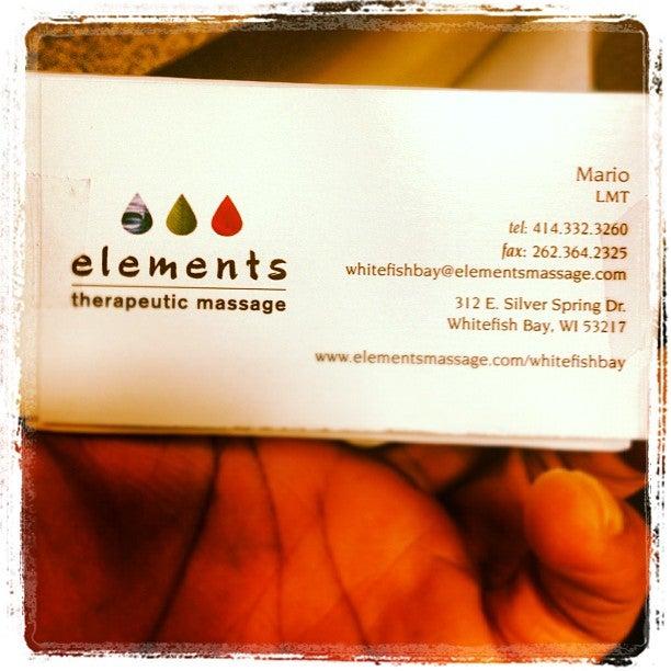 Elements Massage,massage,spa