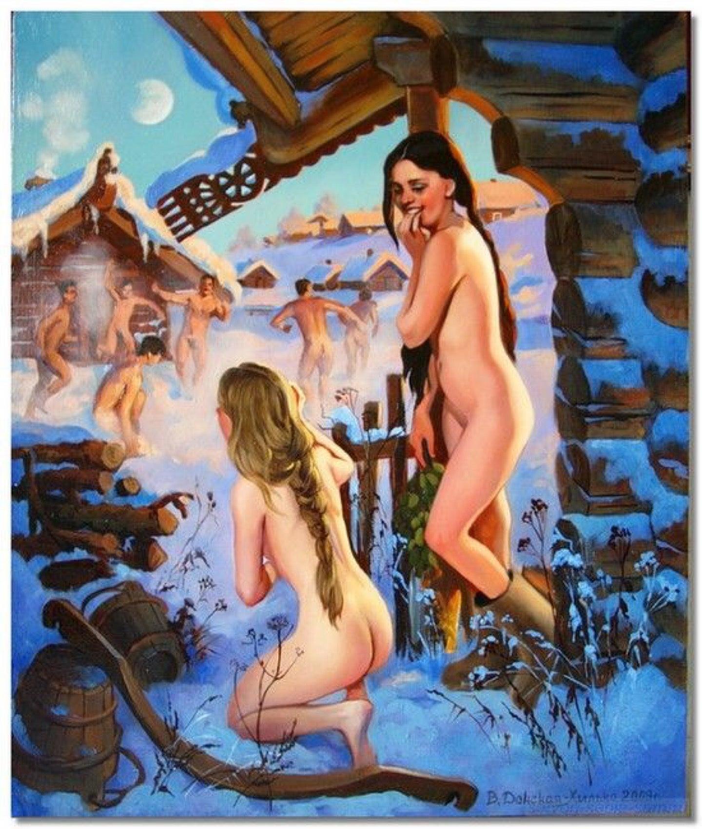 Výsledok vyhľadávania obrázkov pre dopyt после бани в снег