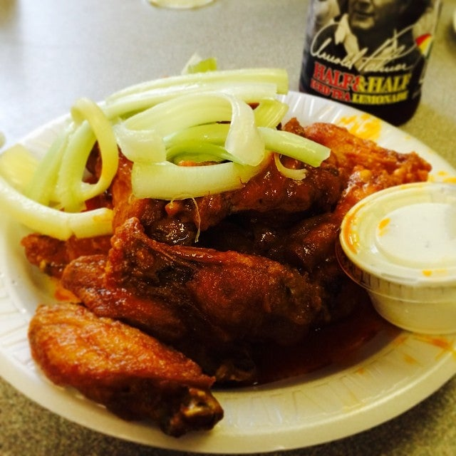Chucks Spring Street Cafe,best wings in all of princeton!