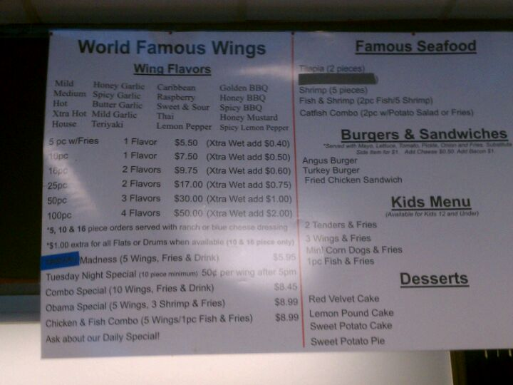 Carlton's World Famous Chicken & Seafood,