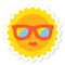 Sun with sunglasses on